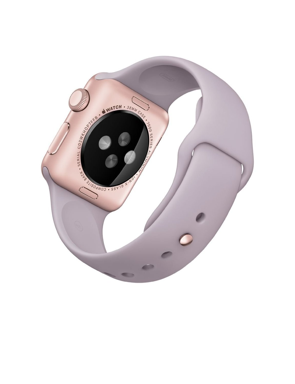 new style 9f1f4 e833b Apple 1.49-Inch Sport Smart Watch – Rose Gold Aluminum Case with Lavender  Band